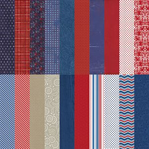 Picture of Red, White, & Beautiful by Katie Pertiet Designer Cardstock - Set 10